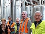 Members touring brewery